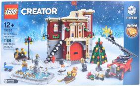 LEGO SET - LEGO CREATOR - 10263 - WINTER VILLAGE FIRE STATION