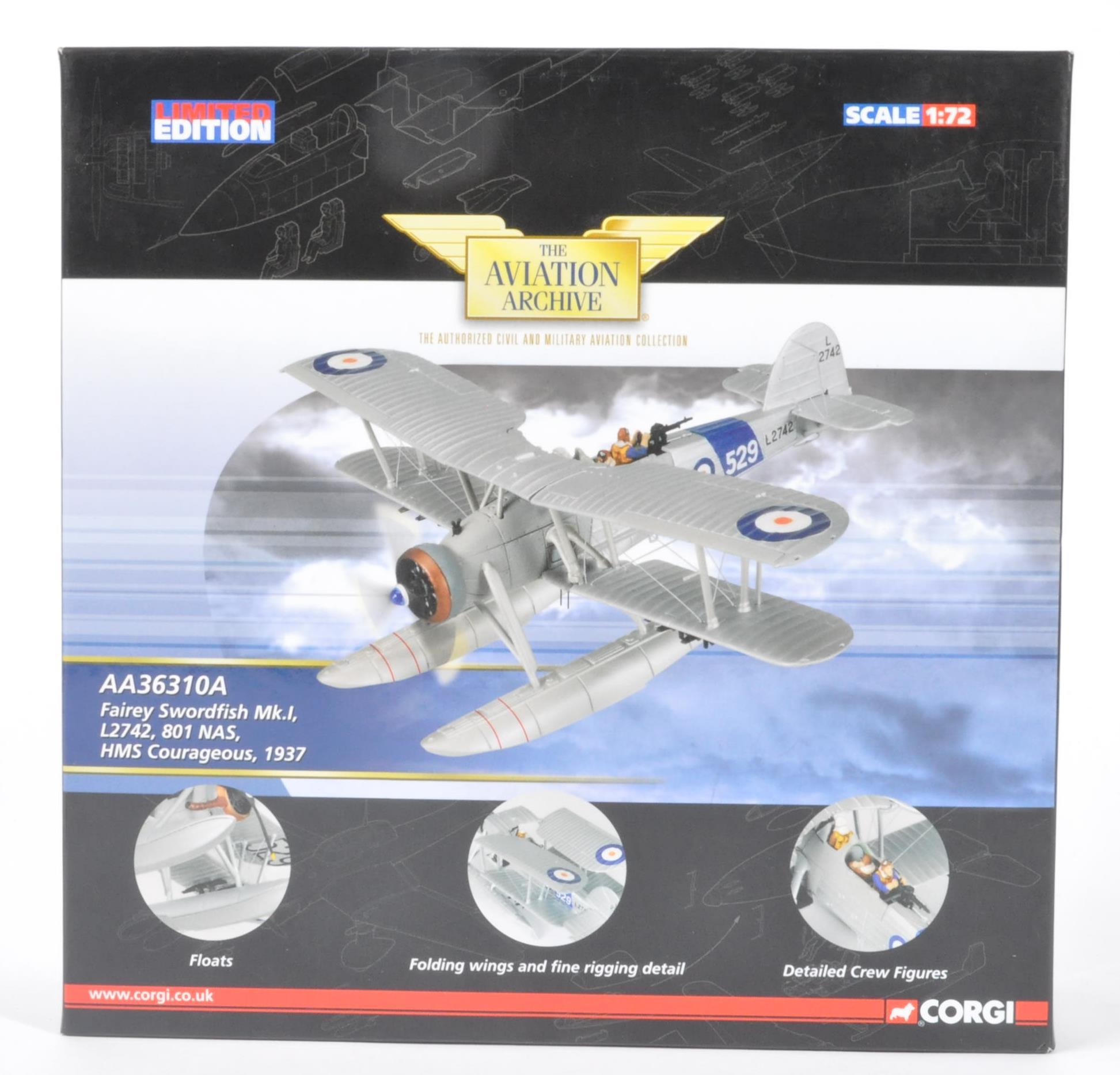 CORGI AVIATION ARCHIVE - AA36310A BOXED DIECAST MODEL PLANE
