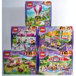 LEGO SETS - LEGO FRIENDS - COLLECTION OF X5 LEGO FRIENDS SETS