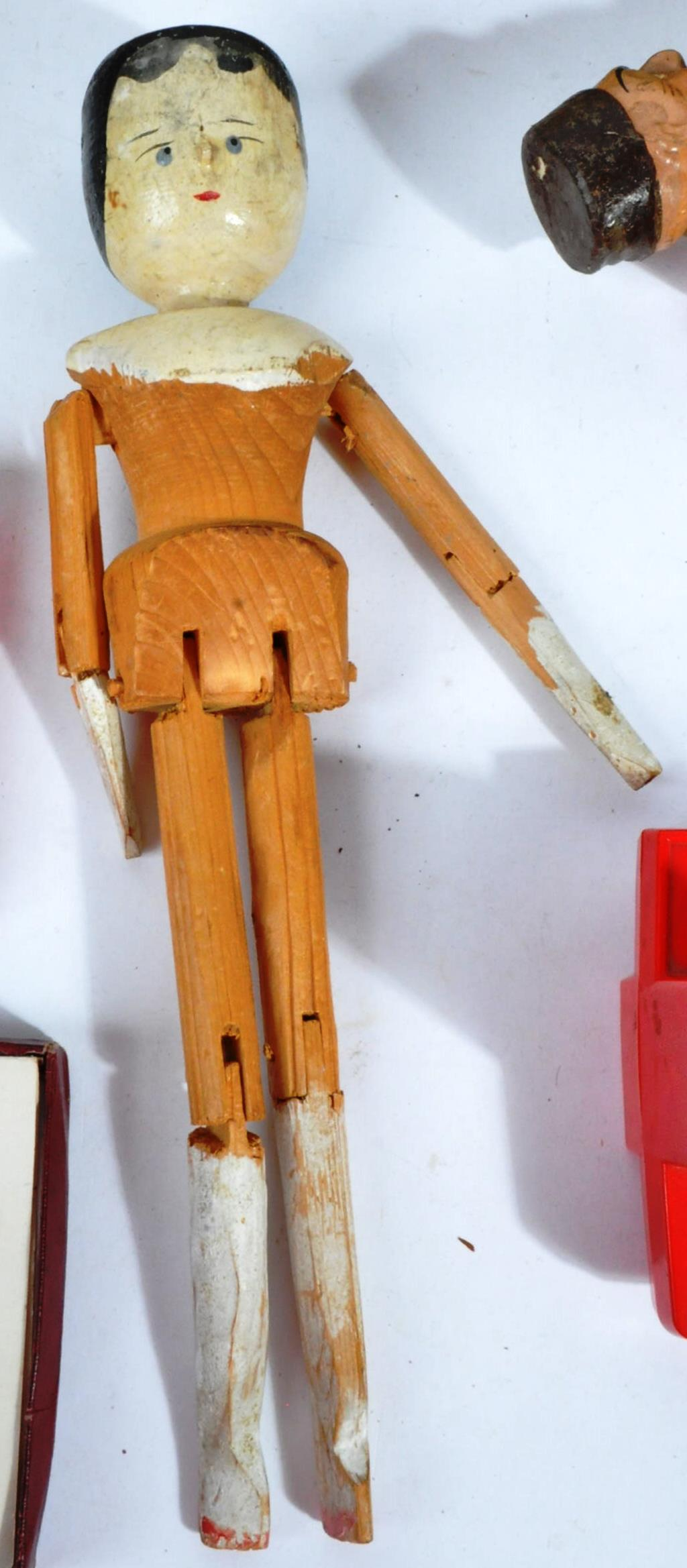 COLLECTION OF ANTIQUE TOYS - DUTCH DOLL, WOODEN TOYS ETC - Image 9 of 12