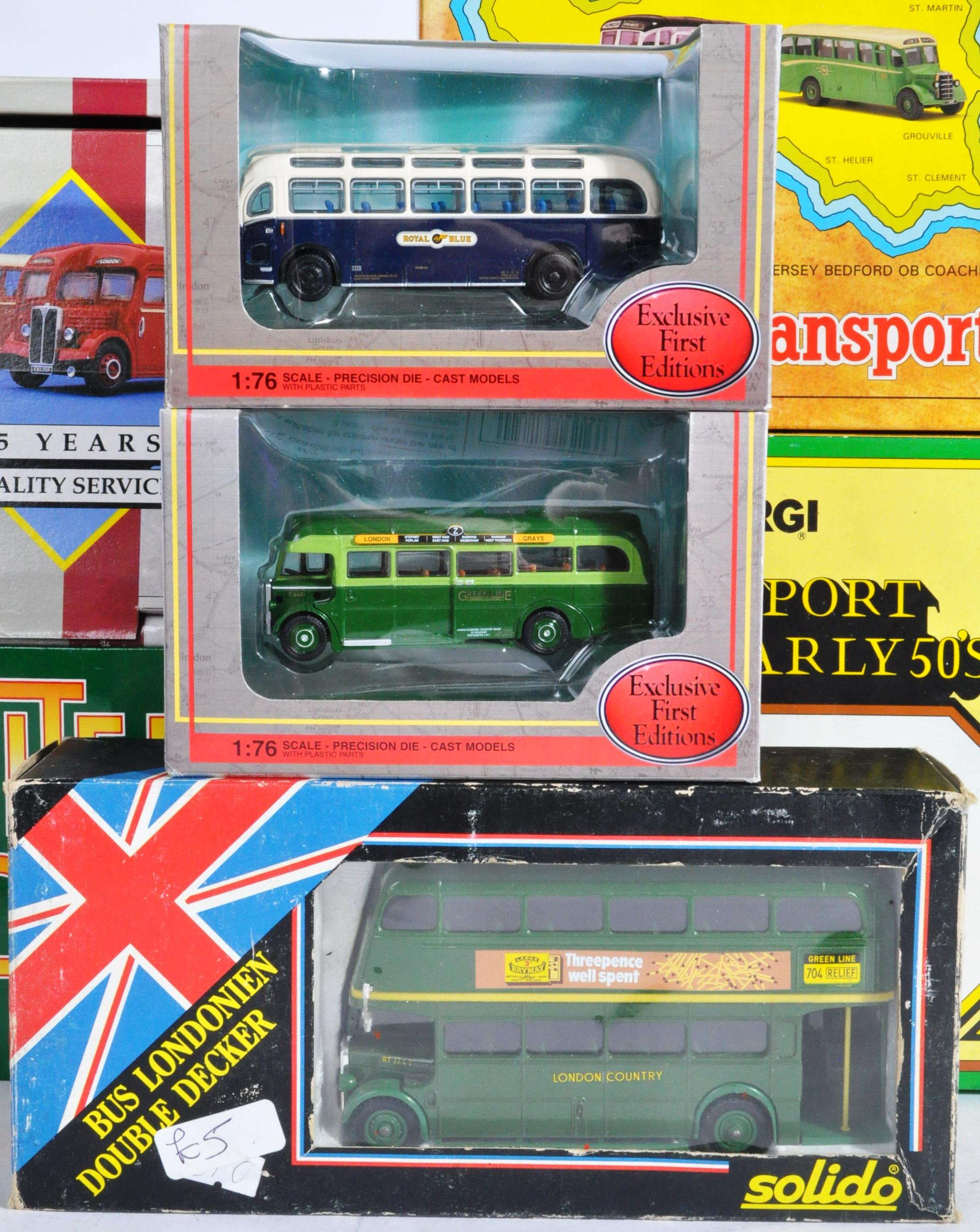 COLLECTION OF BOXED CORGI & EFE DIECAST MODEL BUSES - Image 5 of 7
