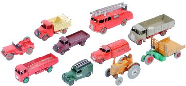 COLLECTION OF X10 VINTAGE DINKY TOYS DIECAST MODEL TRUCKS