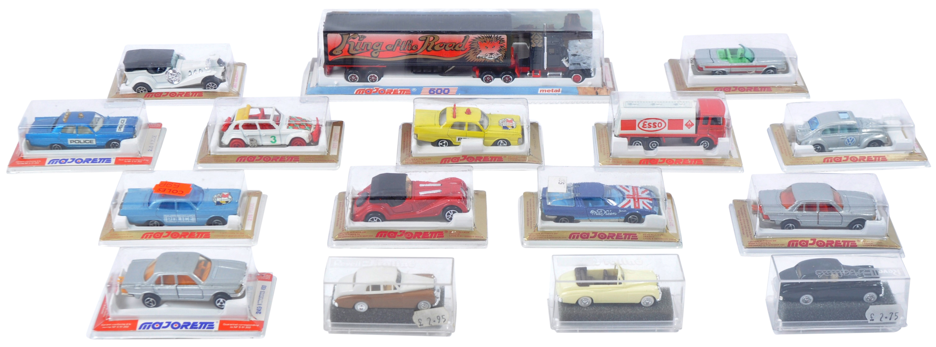 COLLECTION OF X16 ASSORTED MAJORETTE & REVELL MODEL CARS