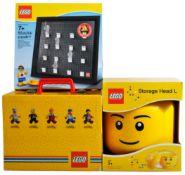 COLLECTION OF X3 ORIGINAL LEGO BRICKS STORAGE ITEMS