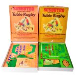 TWO ORIGINAL VINTAGE SUBBUTEO TABLE TOP RUGBY SETS