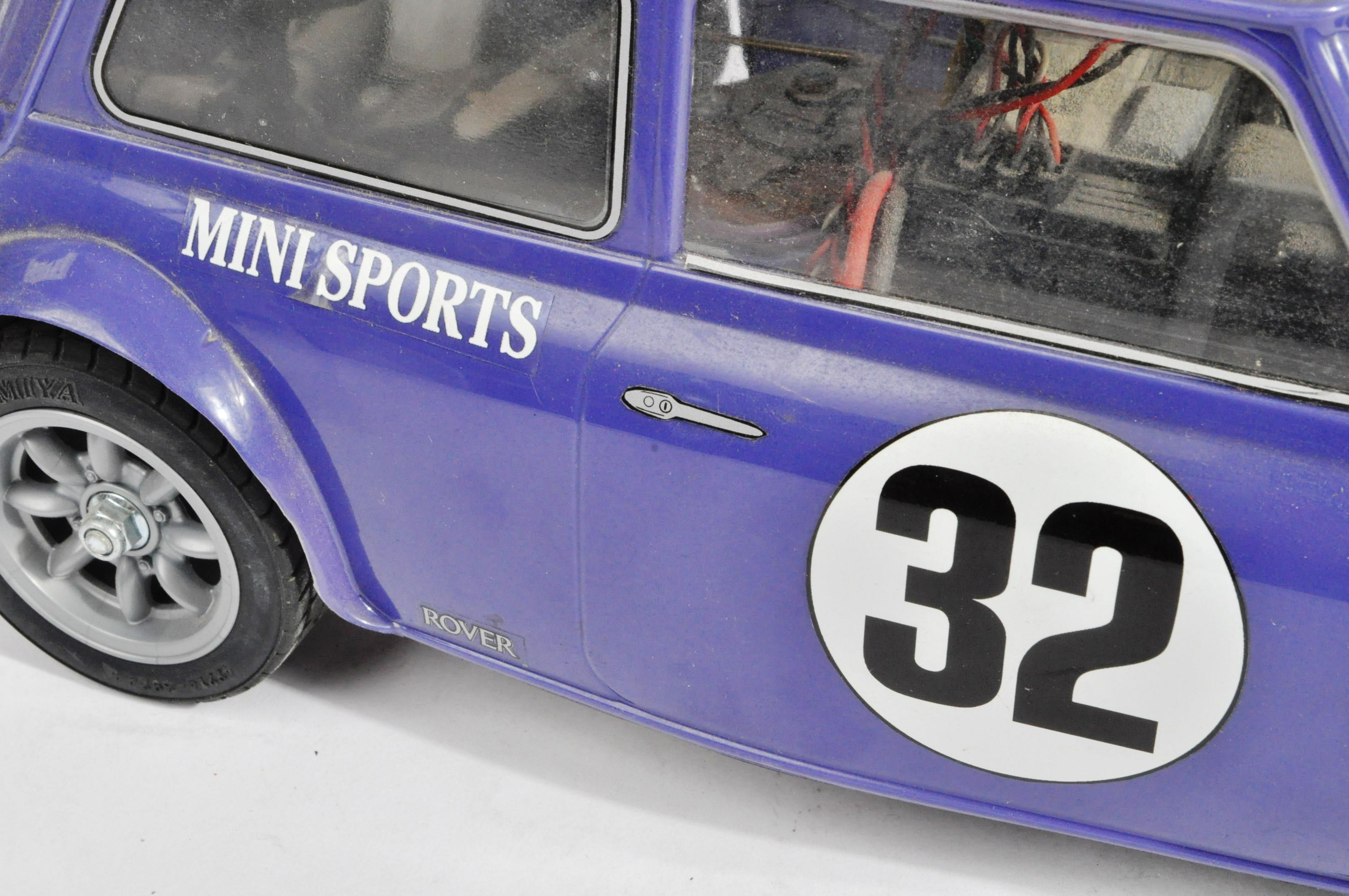 TAMIYA - TWO VINTAGE MINI COOPER RACING RC RADIO CONTROLLED CARS - Image 4 of 5