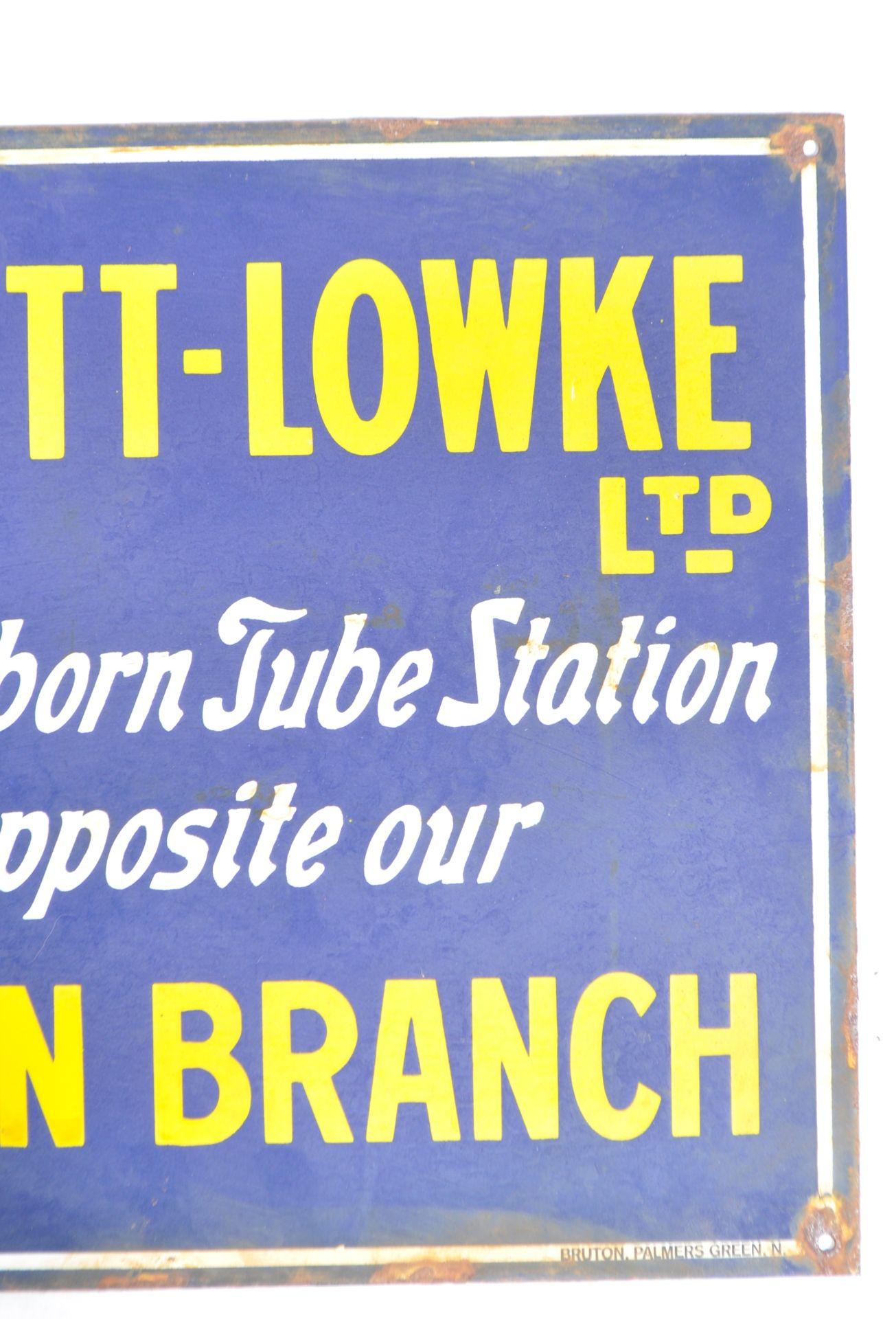 RARE ANTIQUE BASSETT LOWKE ENAMEL ADVERTISING SIGN - Image 3 of 4