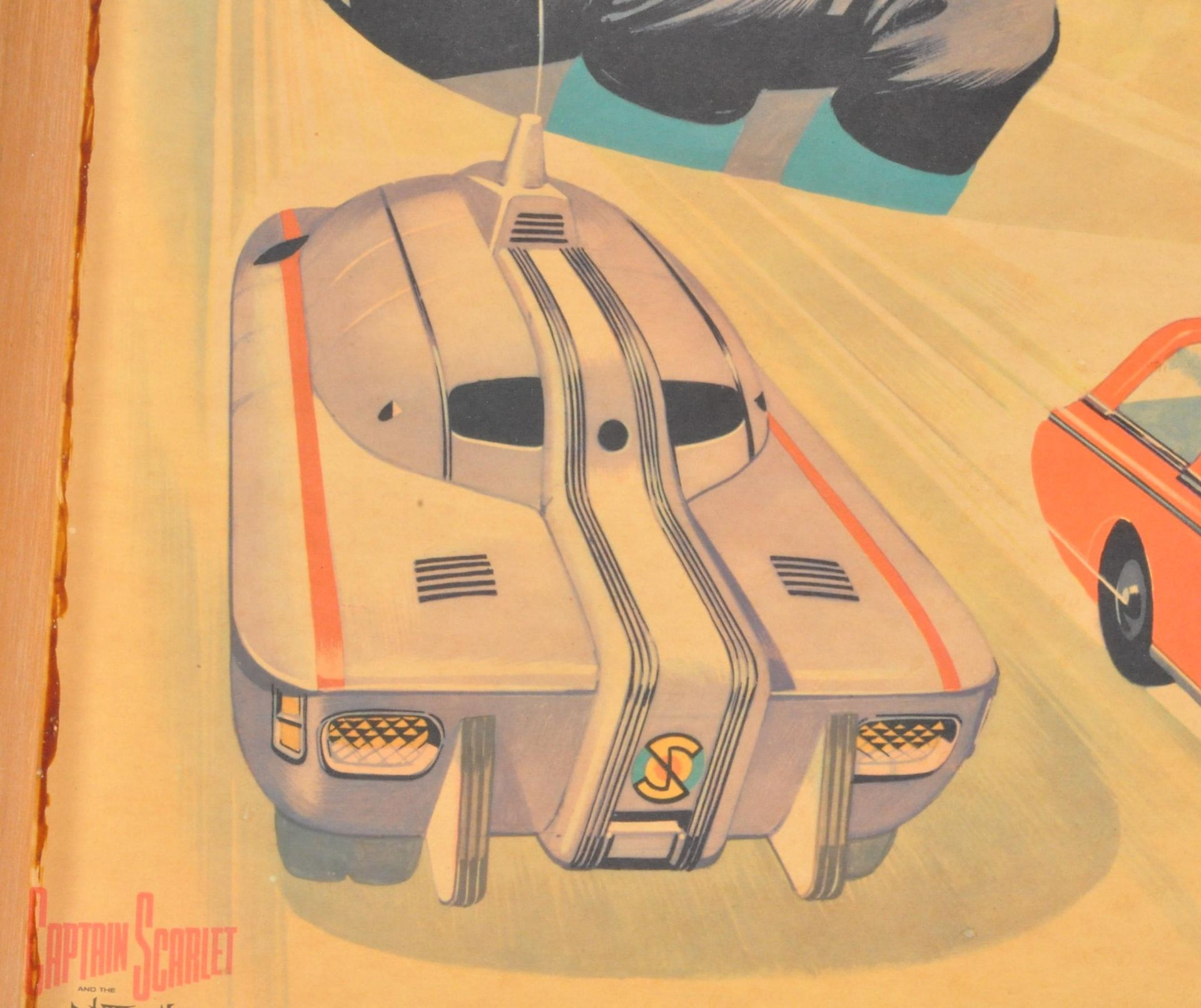 RARE CAPTAIN SCARLET ANGLO CONFECTIONERY SHOP DISPLAY POSTER BOARD - Image 7 of 9