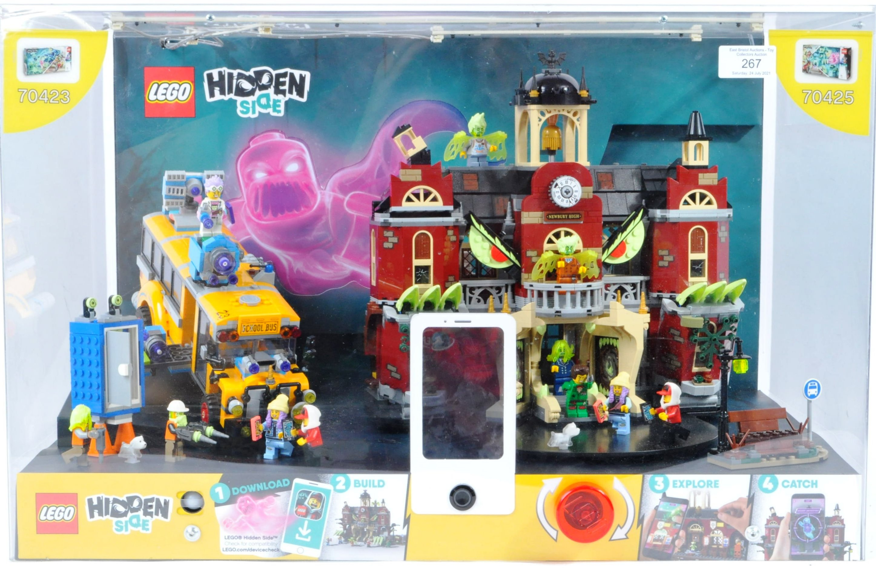 LEGO - HIDDEN SIDE - ORIGINAL IN STORE SHOP DISPLAY CABINET