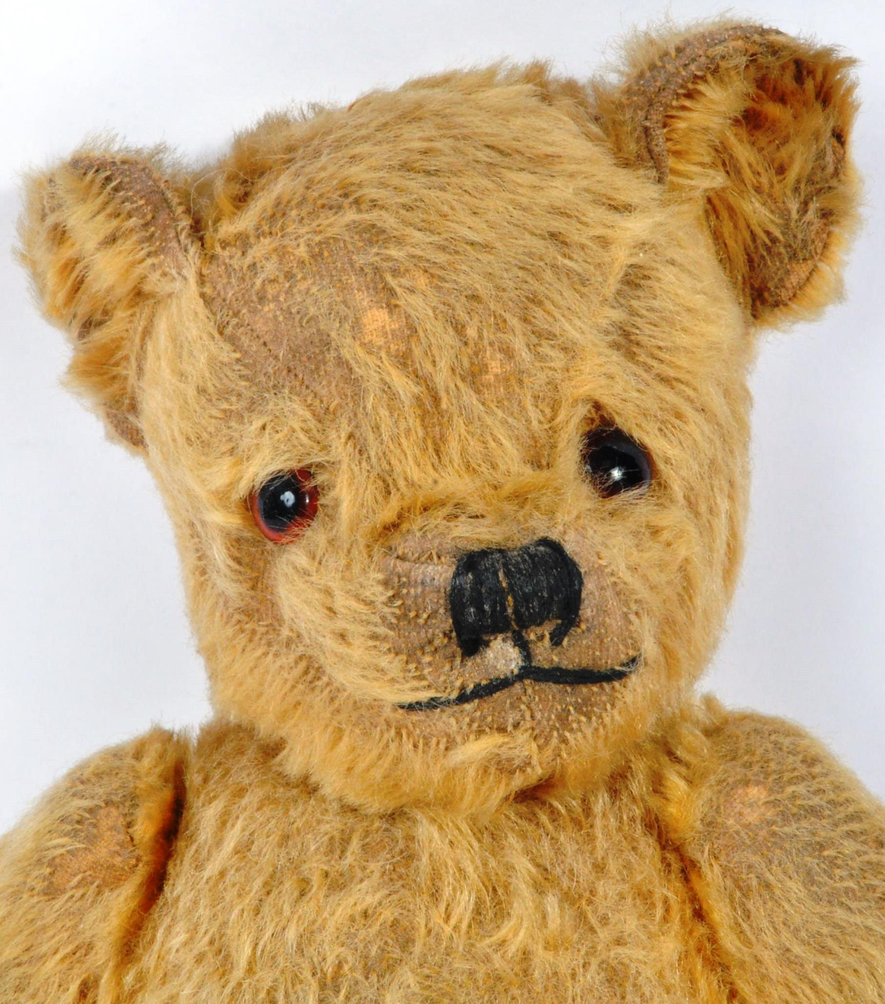 VINTAGE ENGLISH TEDDY BEAR AND GERMAN SCHUCO DOLL - Image 3 of 8