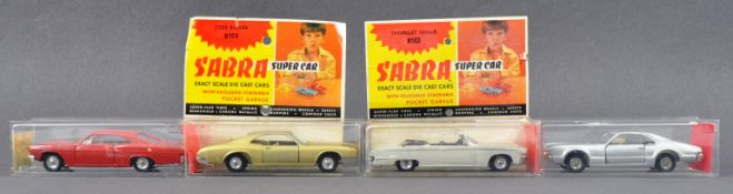 COLLECTION OF X4 VINTAGE ISRAELI MADE ' SABRA ' DIECAST MODEL CARS