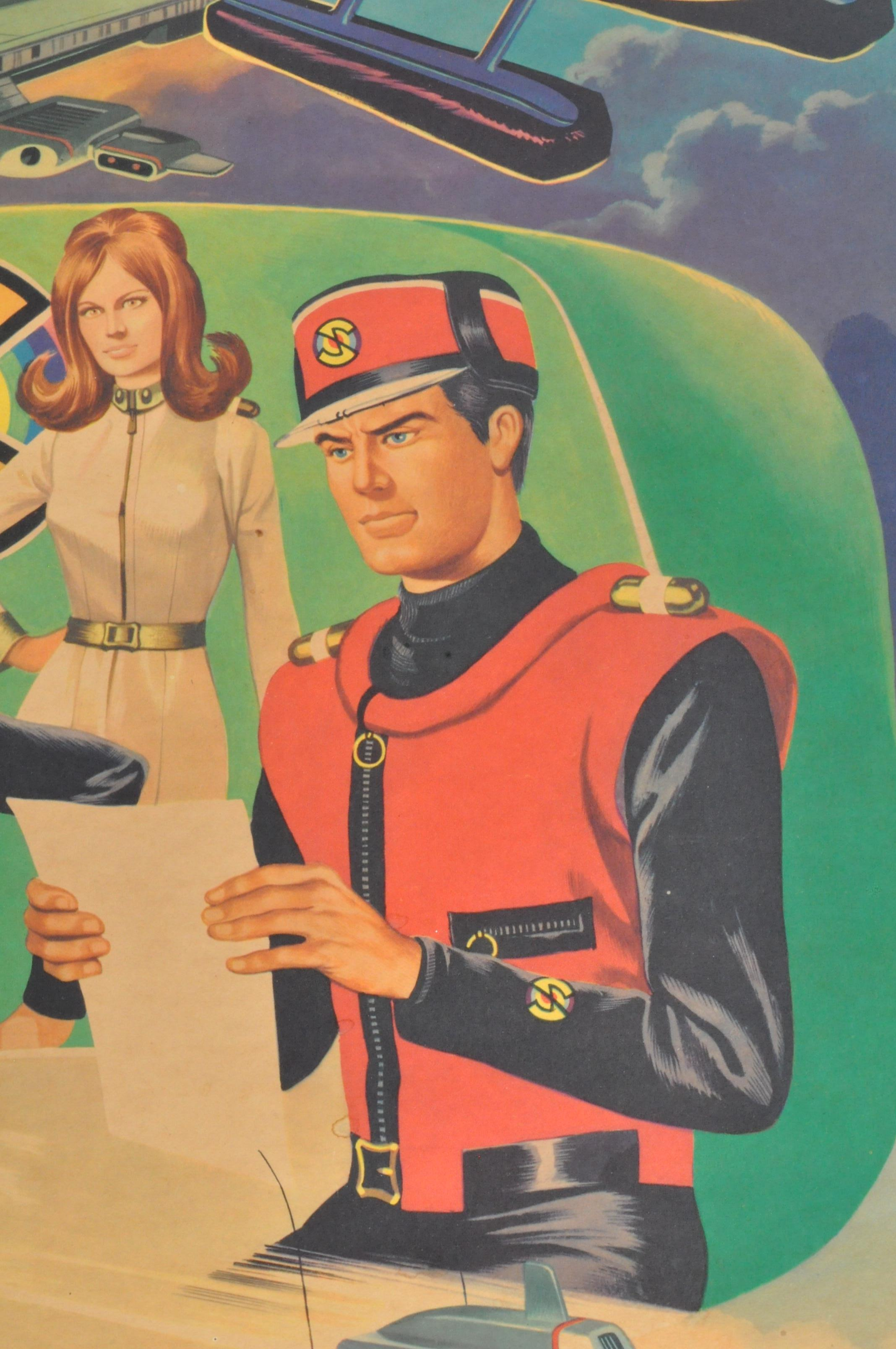 RARE CAPTAIN SCARLET ANGLO CONFECTIONERY SHOP DISPLAY POSTER BOARD - Image 6 of 9