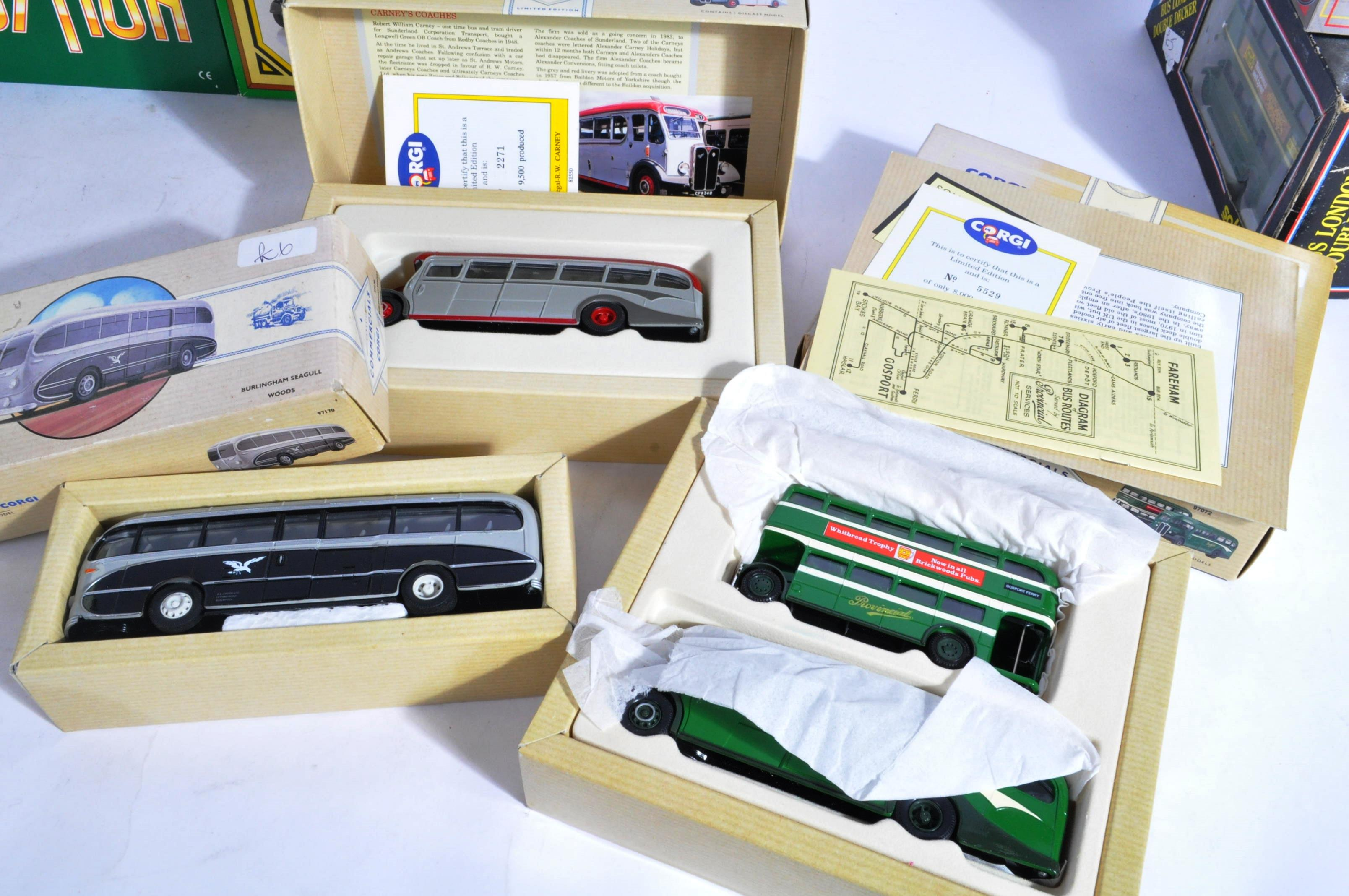 COLLECTION OF BOXED CORGI & EFE DIECAST MODEL BUSES - Image 6 of 7