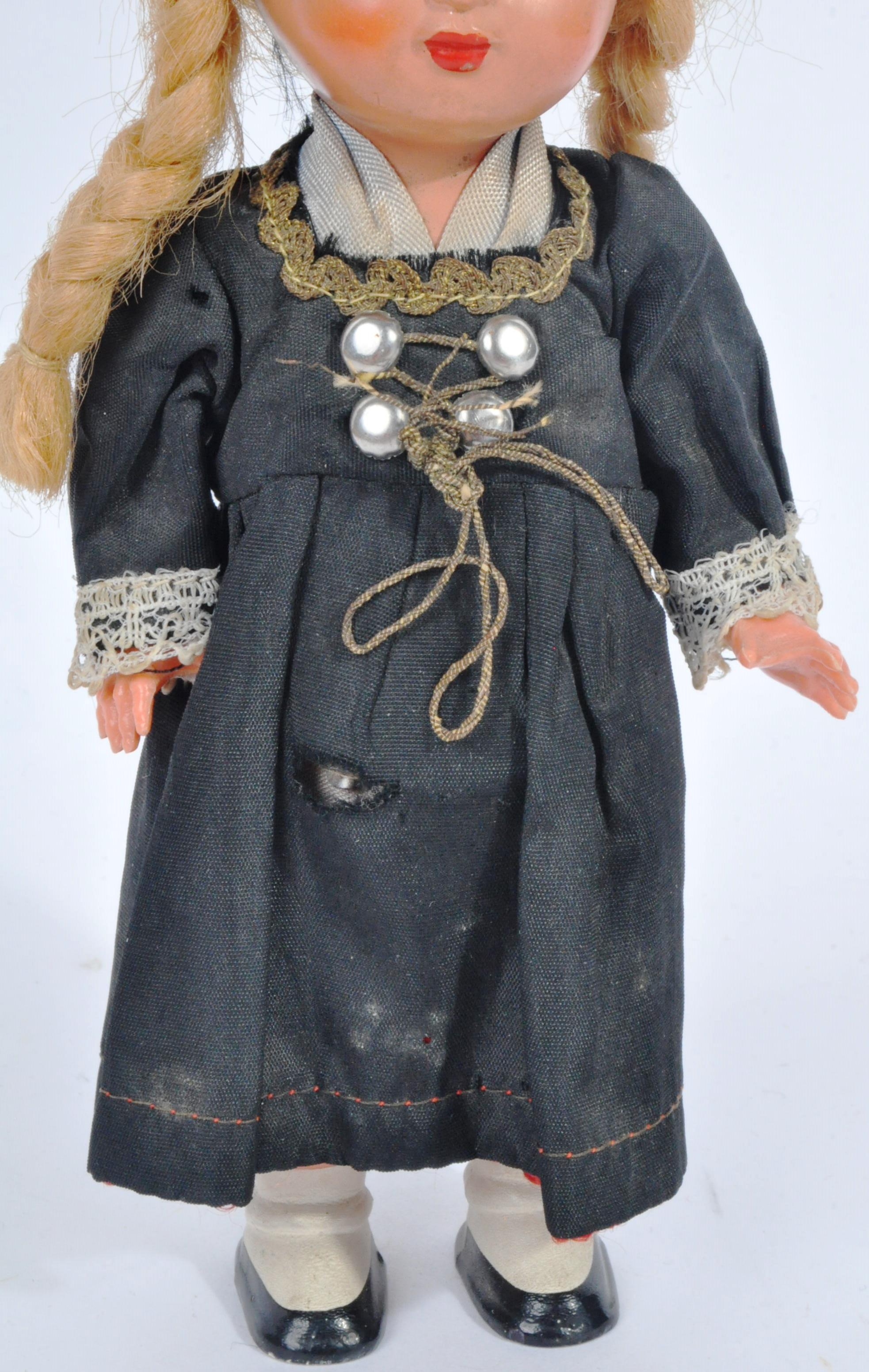 VINTAGE ENGLISH TEDDY BEAR AND GERMAN SCHUCO DOLL - Image 7 of 8