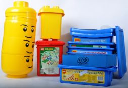 LARGE COLLECTION OF ASSORTED LEGO STORAGE CONTAINERS