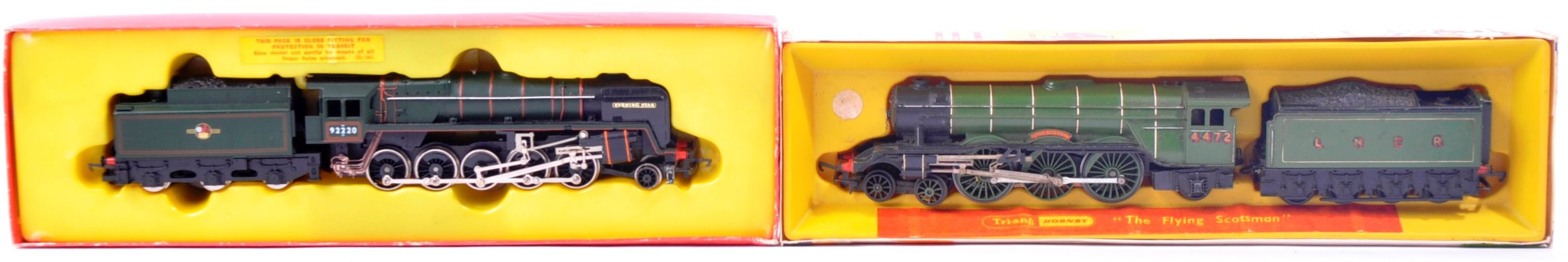 TWO VINTAGE HORNBY & TRIANG MODEL RAILWAY TRAINSET LOCOMOTIVES