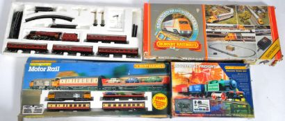 COLLECTION OF X4 ASSORTED HORNBY 00 GAUGE TRAINSETS