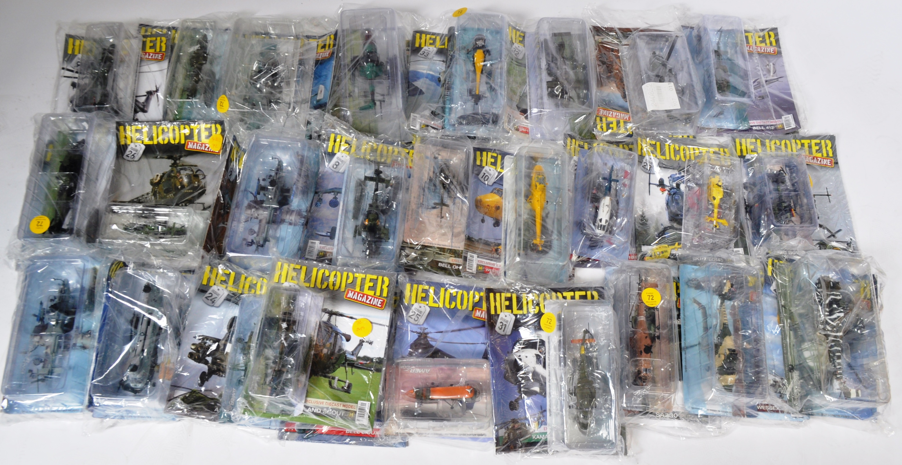 COLLECTION OF ASSORTED HELICOPTER DIECAST AND MAGAZINES