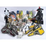 COLLECTION OF ASSORTED STAR WARS ACTION FIGURE PLAY SETS