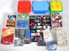 LARGE COLLECTION OF ASSORTED LEGO BRICKS, PARTS & ACCESSORIES