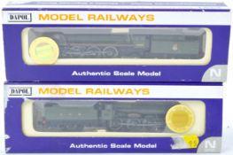 TWO ORIGINAL DAPOL N GAUGE MODEL RAILWAY TRAINSET LOCOMOTIVES