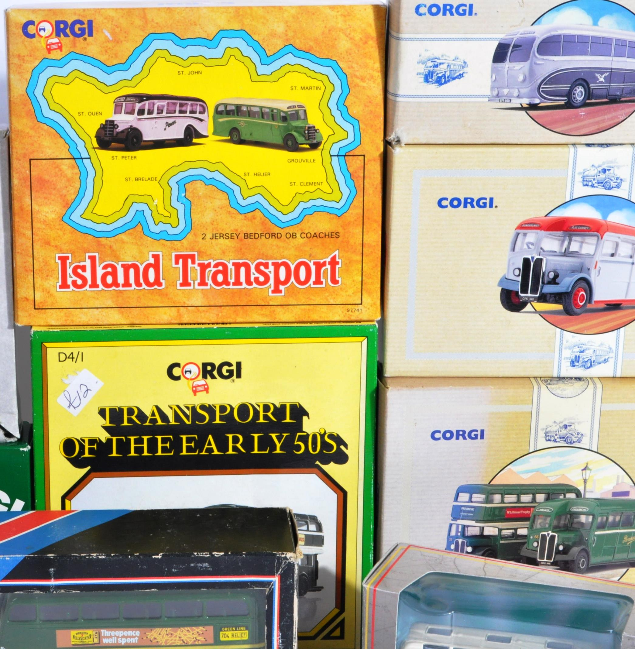 COLLECTION OF BOXED CORGI & EFE DIECAST MODEL BUSES - Image 3 of 7