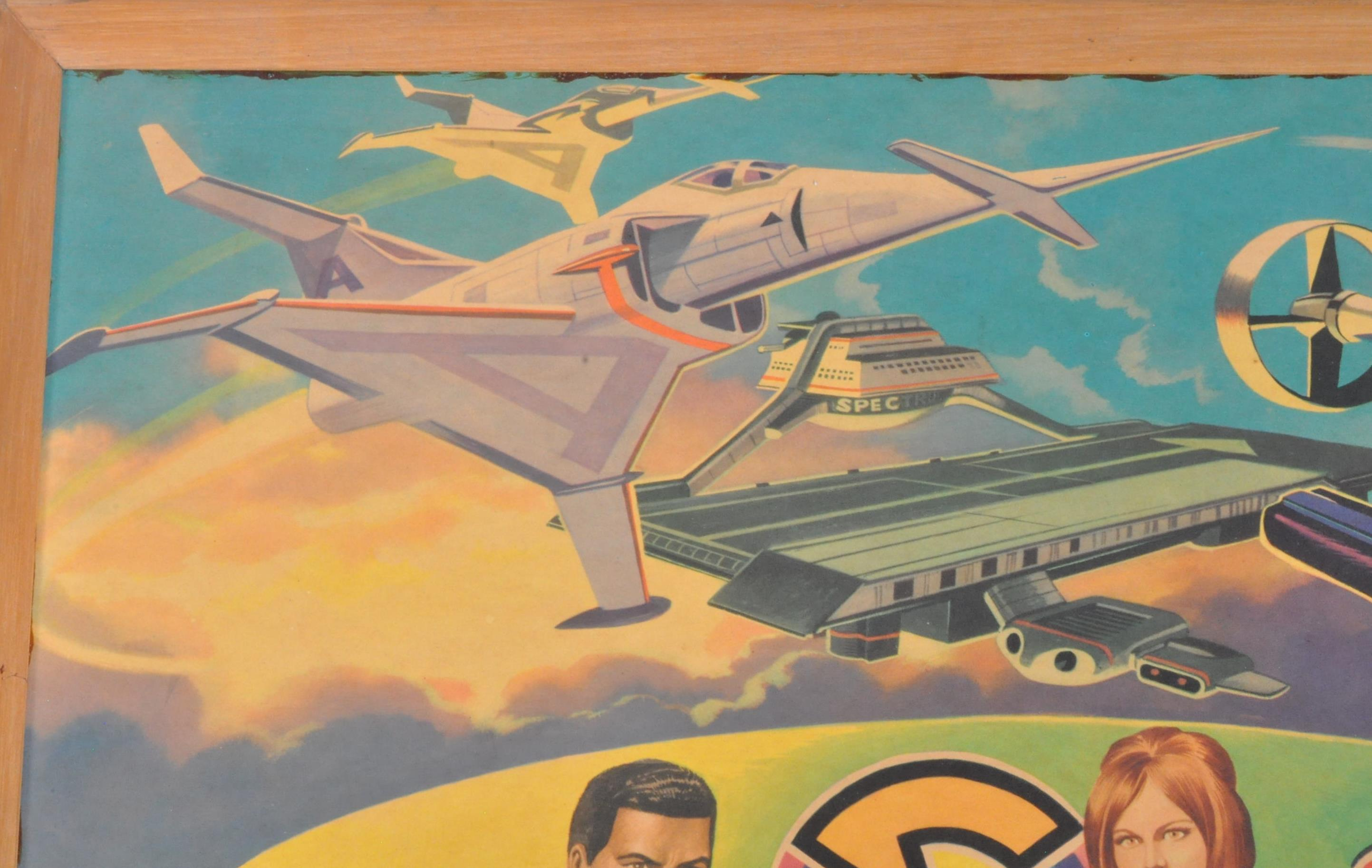 RARE CAPTAIN SCARLET ANGLO CONFECTIONERY SHOP DISPLAY POSTER BOARD - Image 2 of 9