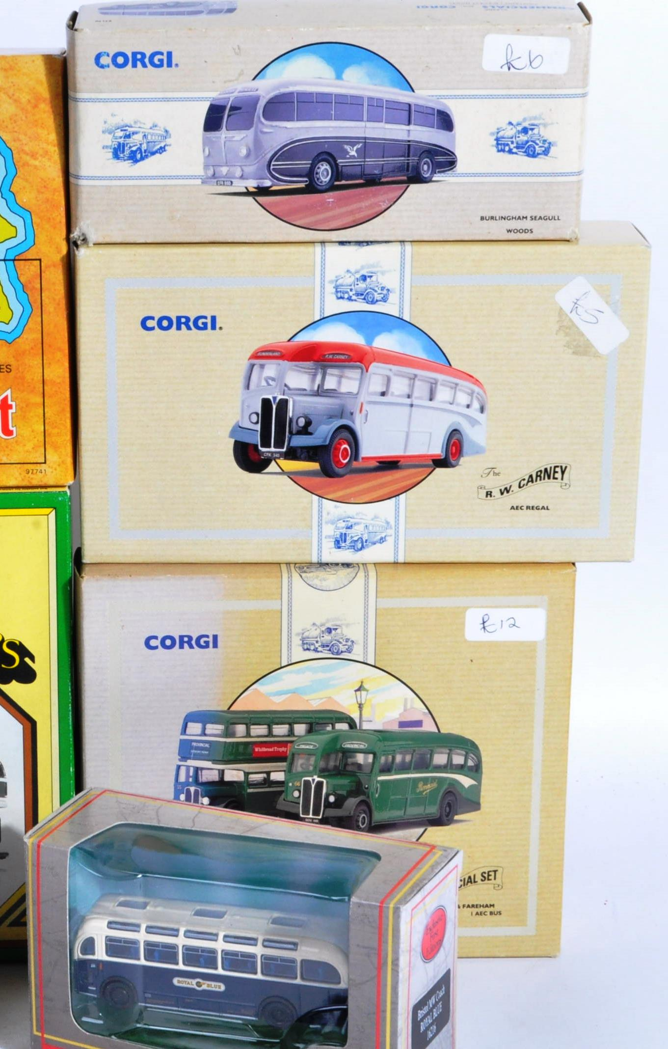COLLECTION OF BOXED CORGI & EFE DIECAST MODEL BUSES - Image 4 of 7
