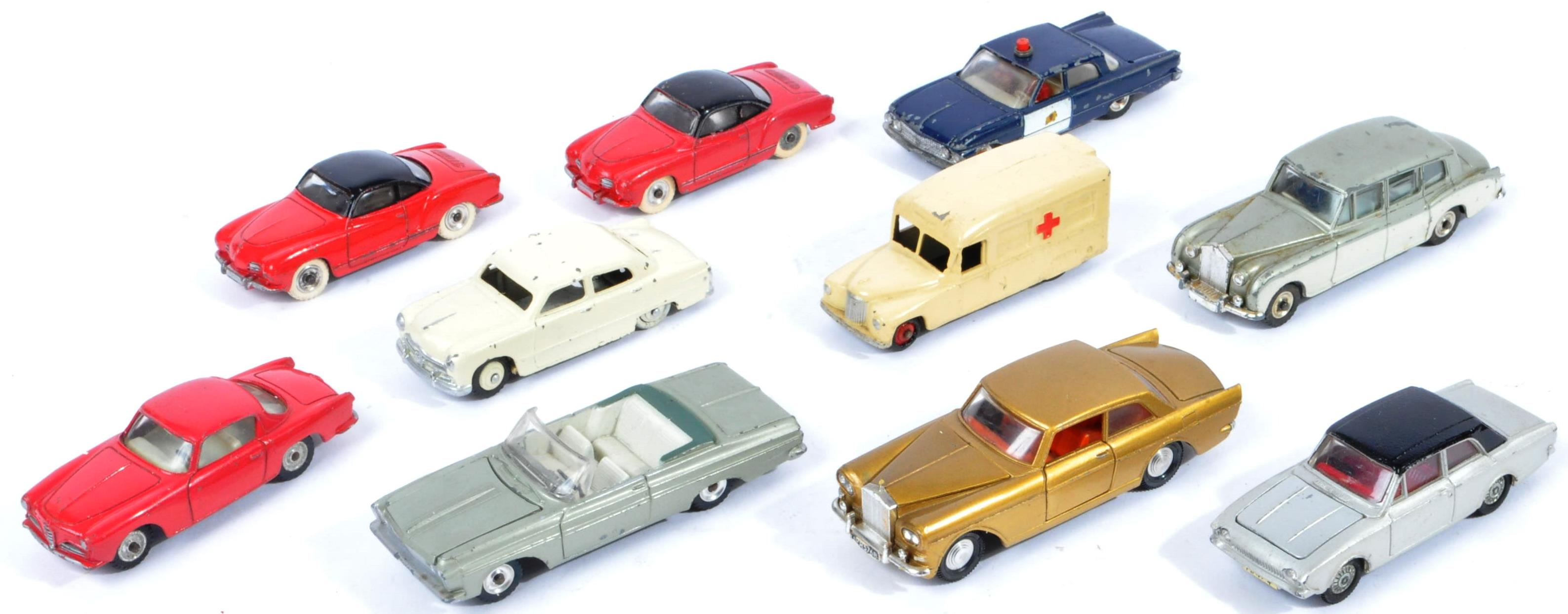 COLLECTION OF X10 VINTAGE DINKY TOYS DIECAST MODEL VEHICLES