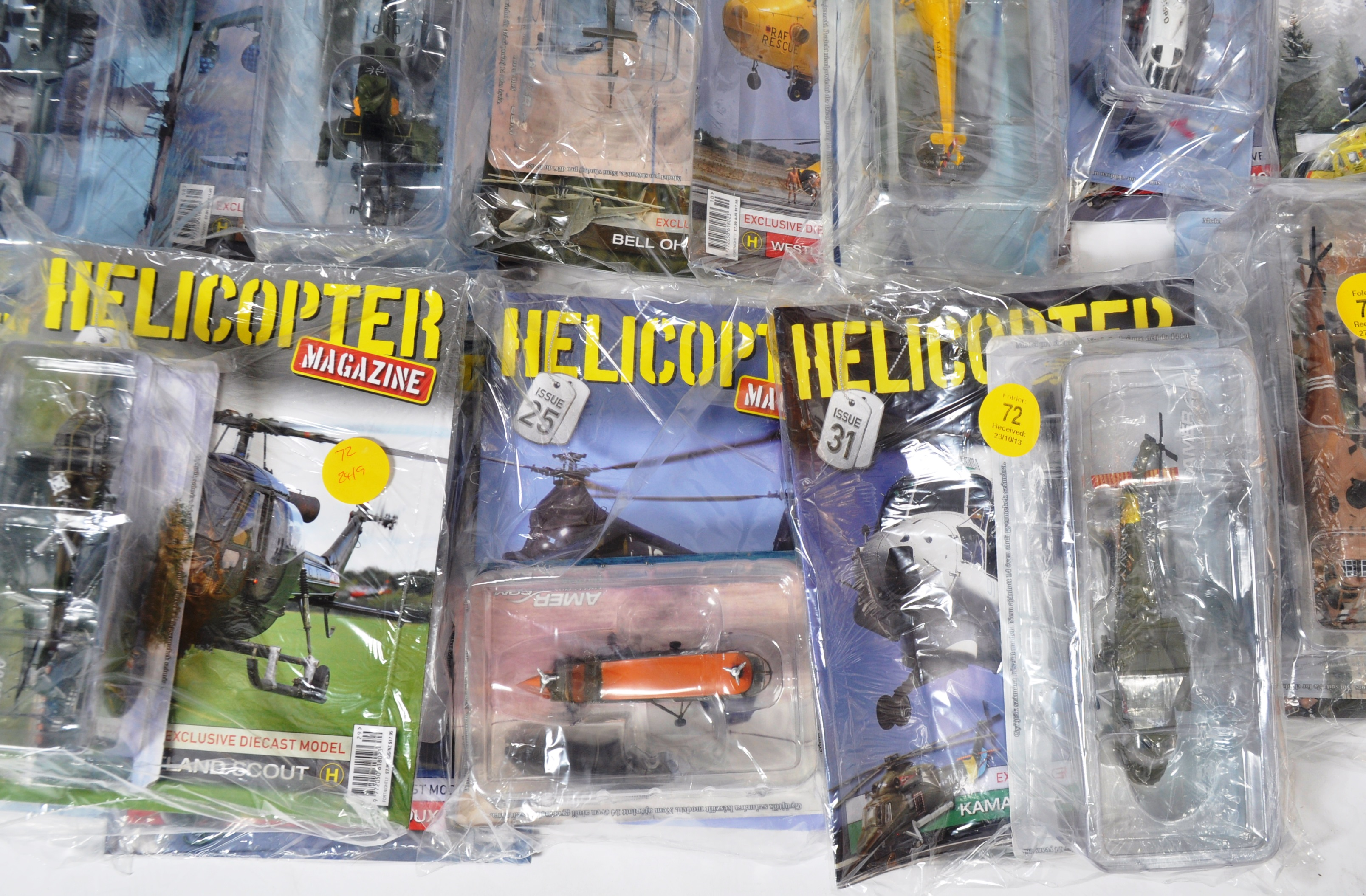 COLLECTION OF ASSORTED HELICOPTER DIECAST AND MAGAZINES - Image 8 of 8