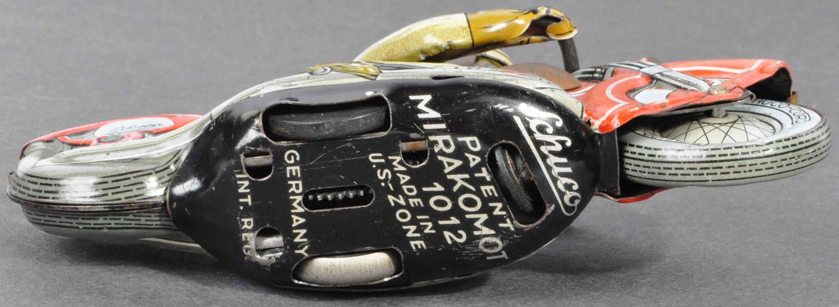 ORIGINAL VINTAGE SCHUCO TINPLATE RACING MOTORCYCLE - Image 5 of 8