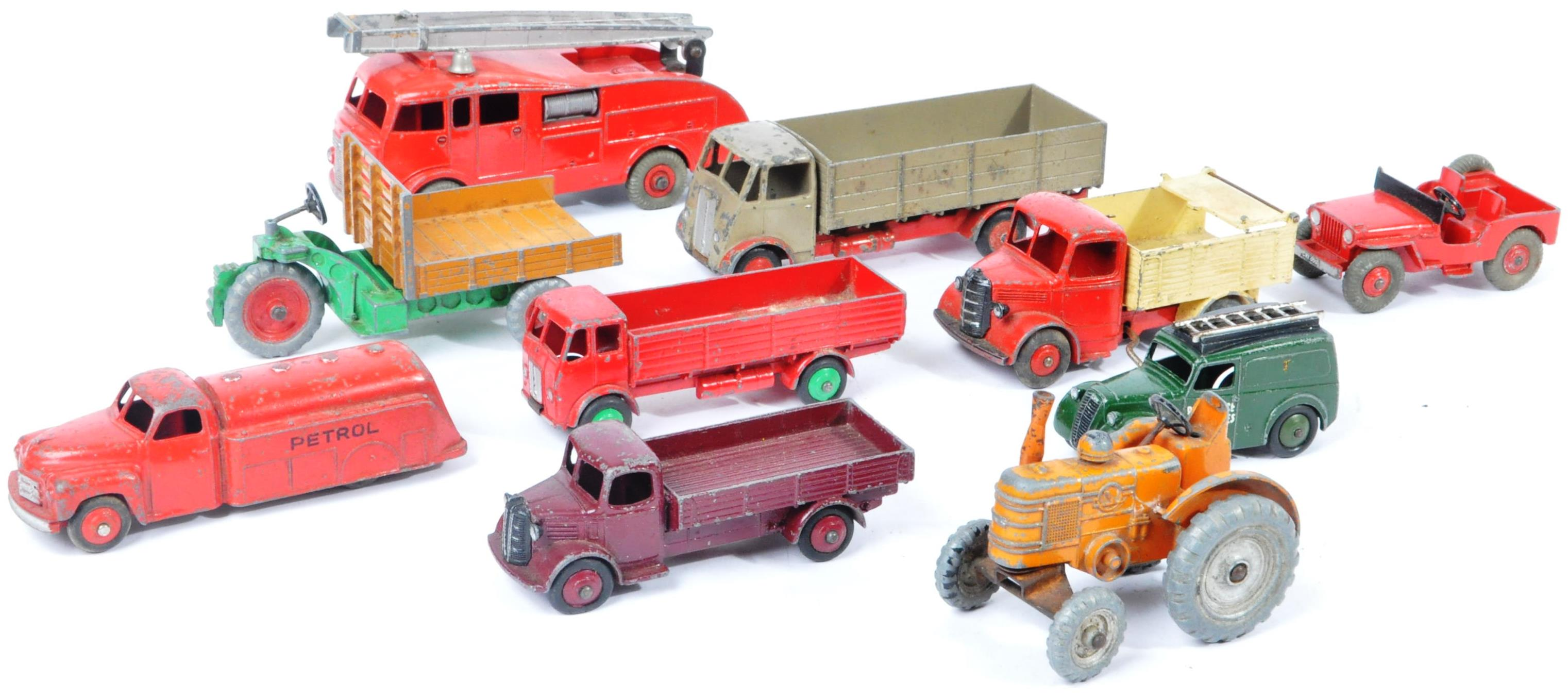 COLLECTION OF X10 VINTAGE DINKY TOYS DIECAST MODEL TRUCKS - Image 8 of 14