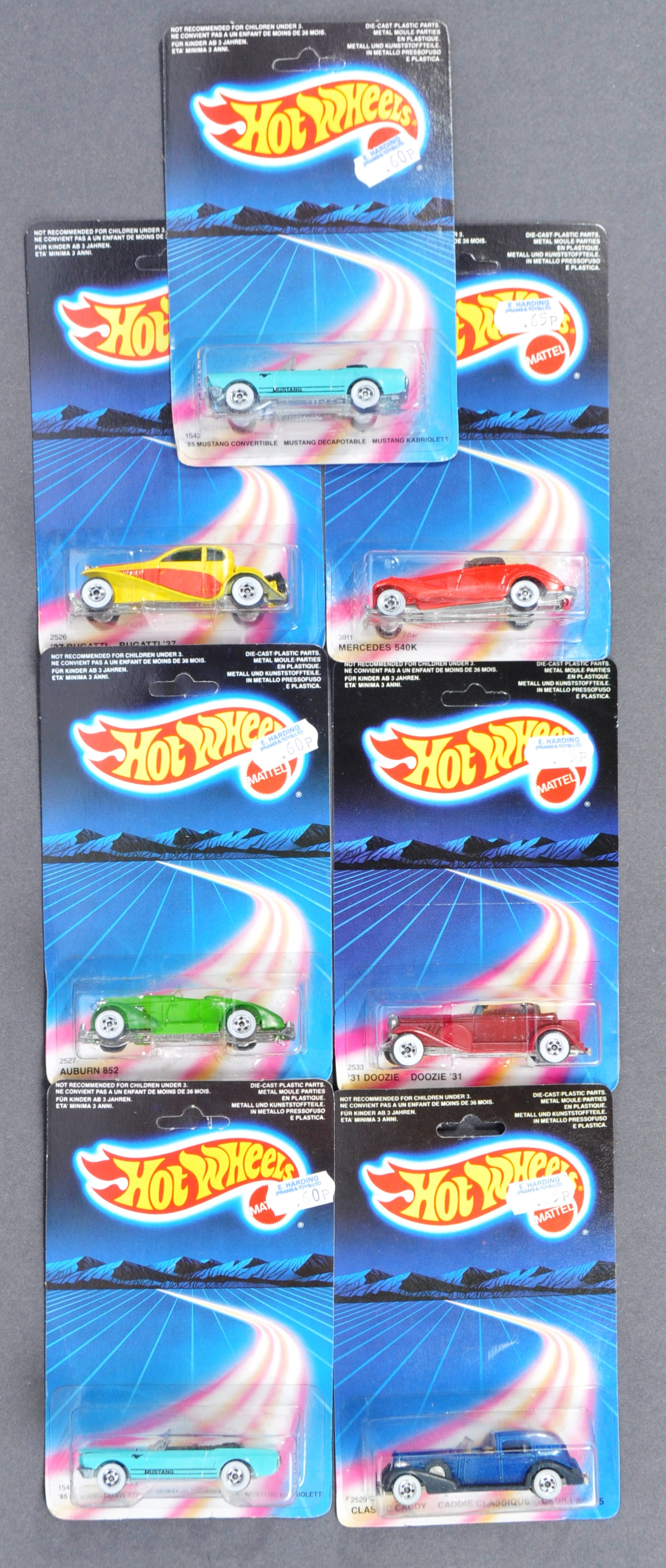 COLLECTION OF X7 VINTAGE MATTELL HOTWHEELS DIECAST CARS