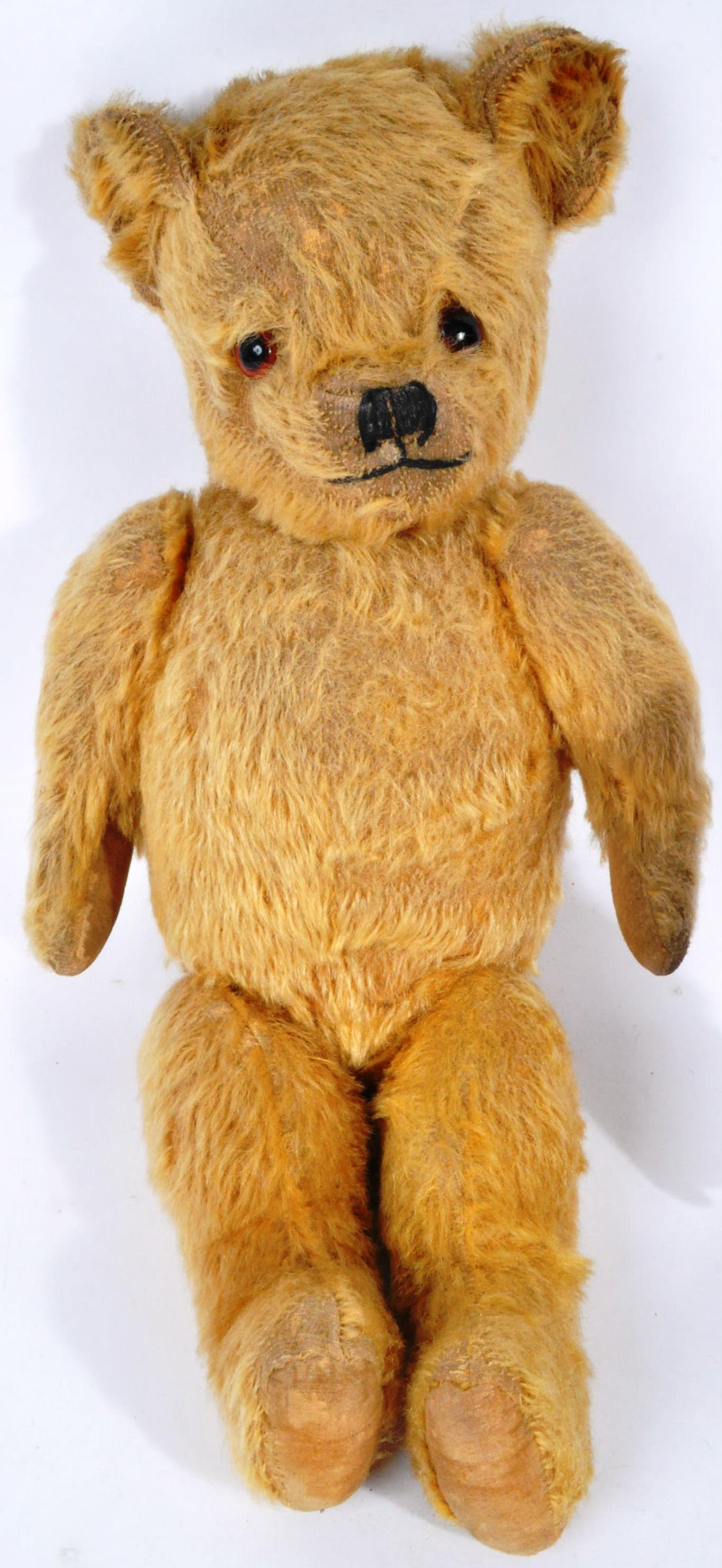 VINTAGE ENGLISH TEDDY BEAR AND GERMAN SCHUCO DOLL - Image 2 of 8