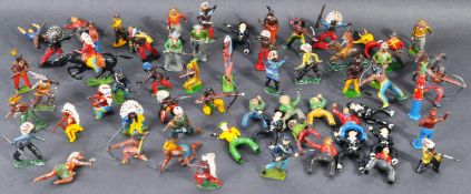 LEAD FIGURES - COLLECTION OF COWBOYS & INDIANS