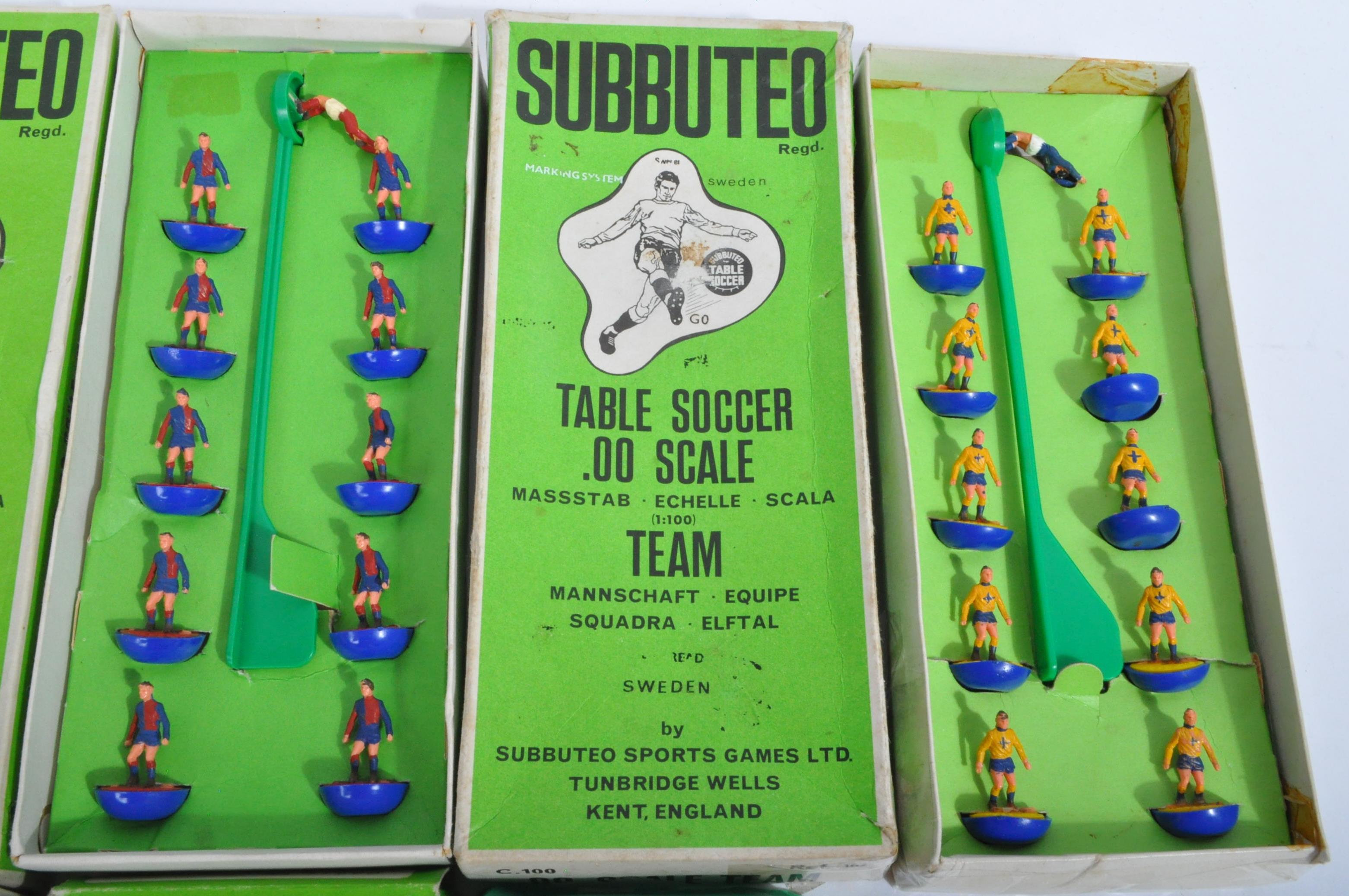COLLECTION OF X5 ORIGINAL VINTAGE SUBBUTEO FOOTBALL TEAMS - Image 3 of 6