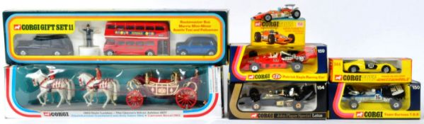 COLLECTION OF ASSORTED VINTAGE CORGI MADE DIECAST MODELS