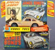 VINTAGE CORGI JAMES BOND 007 NO. 261 ASTON MARTIN DB5