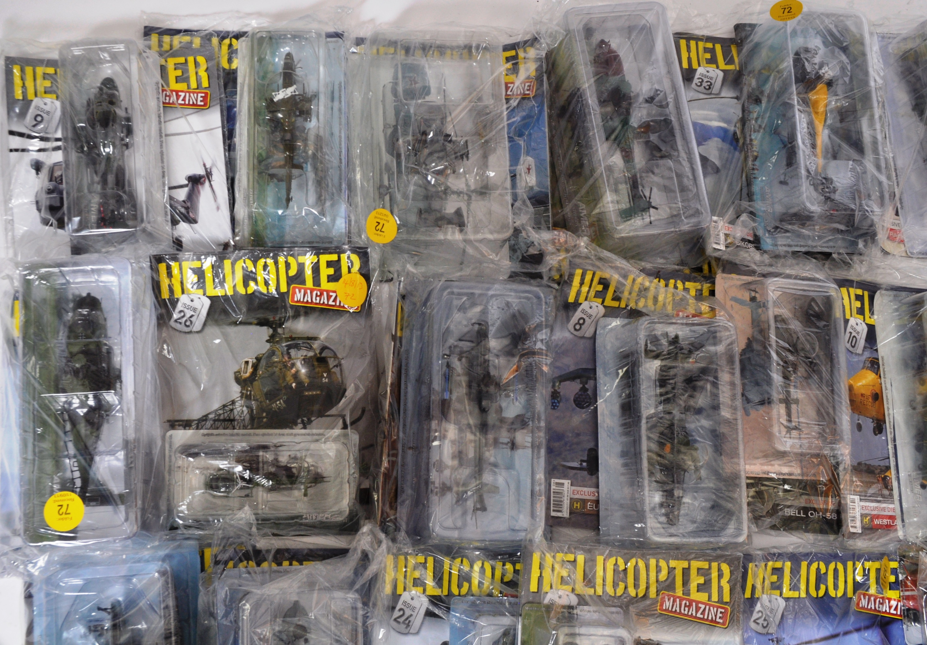 COLLECTION OF ASSORTED HELICOPTER DIECAST AND MAGAZINES - Image 7 of 8