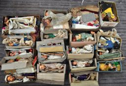 LARGE AND IMPRESSIVE COLLECTION OF VINTAGE PUPPETS & ACCESSORIES