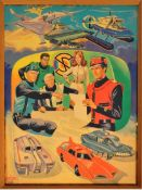 RARE CAPTAIN SCARLET ANGLO CONFECTIONERY SHOP DISPLAY POSTER BOARD