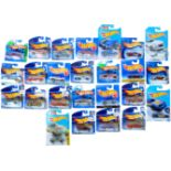 LARGE COLLECTION OF CARDED HOTWHEELS DIECAST MODEL CARS