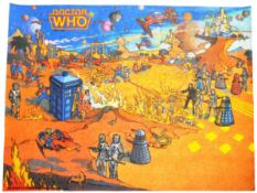 DOCTOR WHO - SCARCE 1984 DR WHO FLOOR RUG - COLIN BAKER