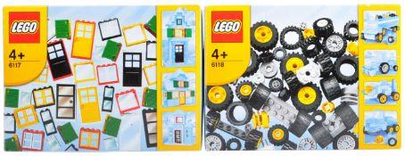 LEGO SETS - LEGO BASIC - 6117 / 6118 - DOORS WINDOWS WHEELS