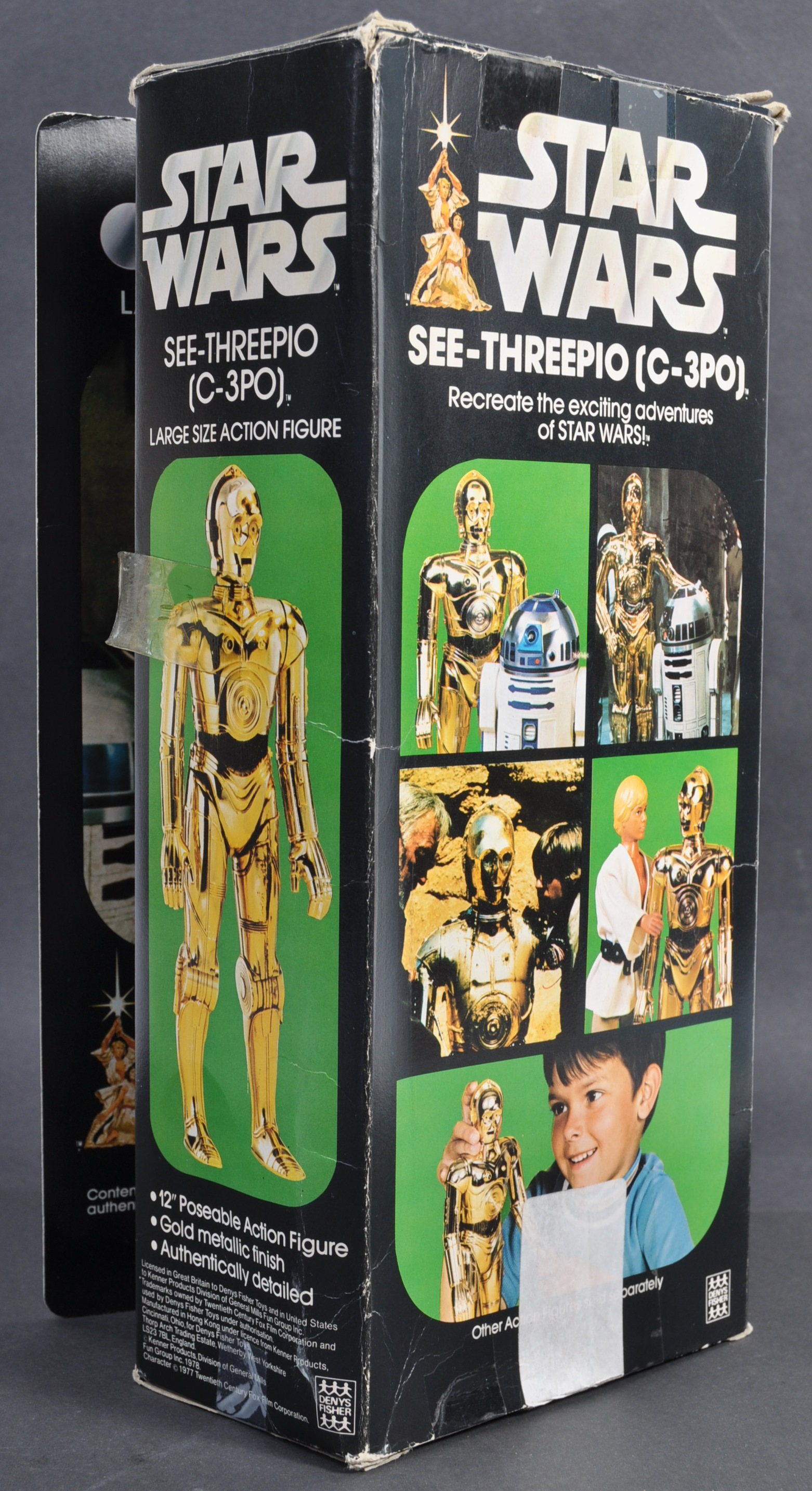 """STAR WARS - RARE DENYS FISHER 12"""" C3PO BOXED ACTION FIGURE - Image 3 of 6"""
