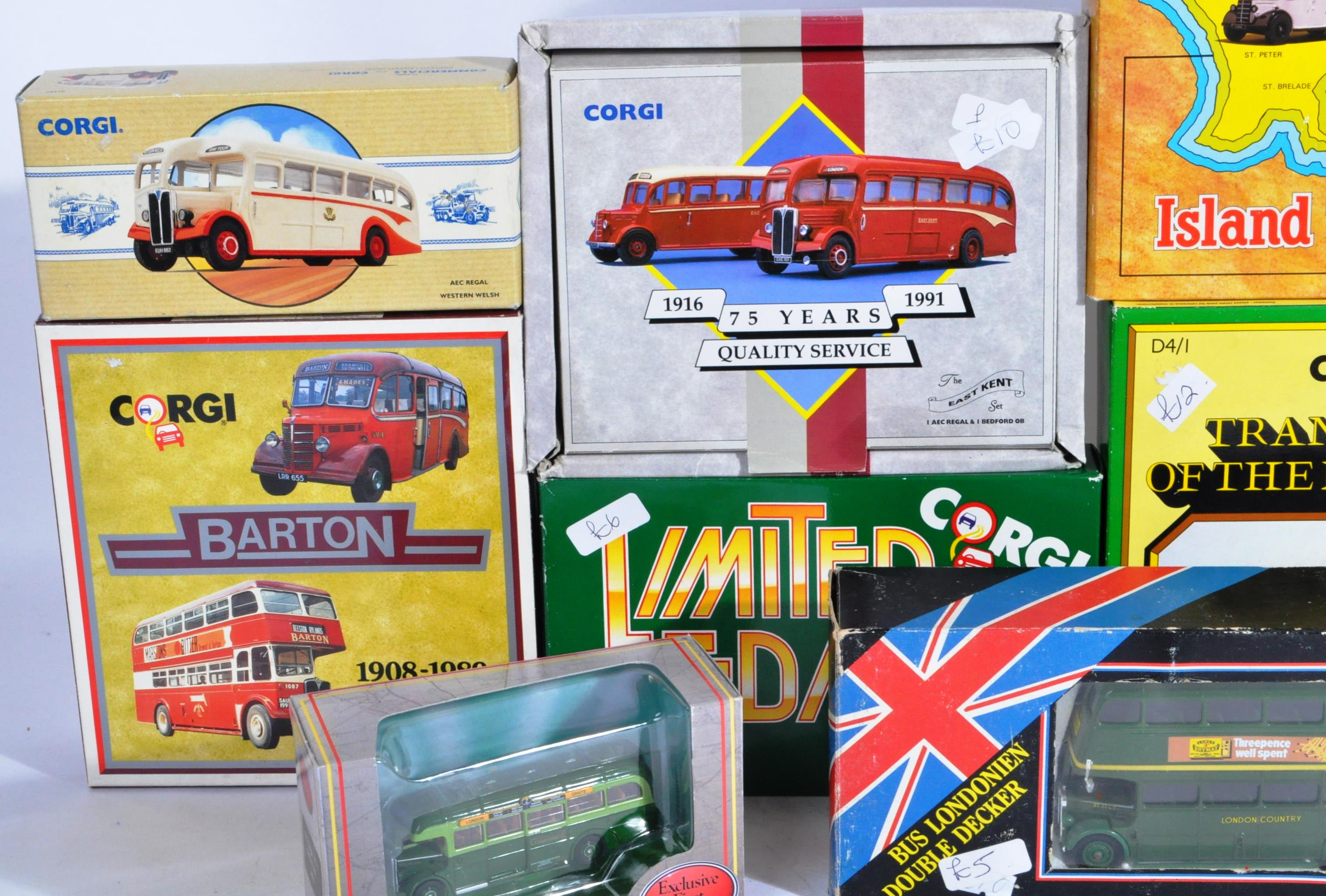 COLLECTION OF BOXED CORGI & EFE DIECAST MODEL BUSES - Image 2 of 7