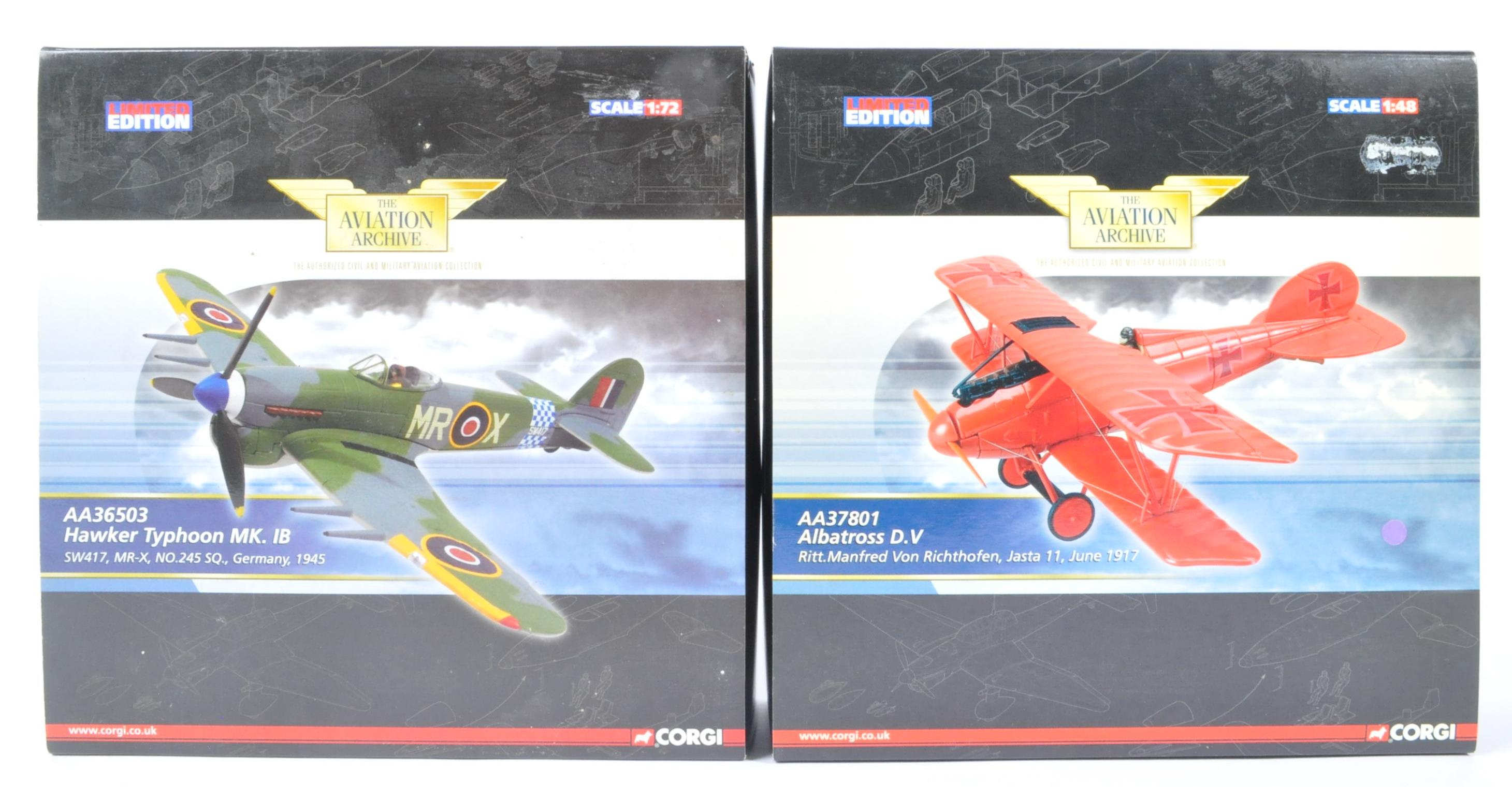 CORGI AVIATION ARCHIVE - TWO BOXED LIMITED EDITION DIECAST MODELS