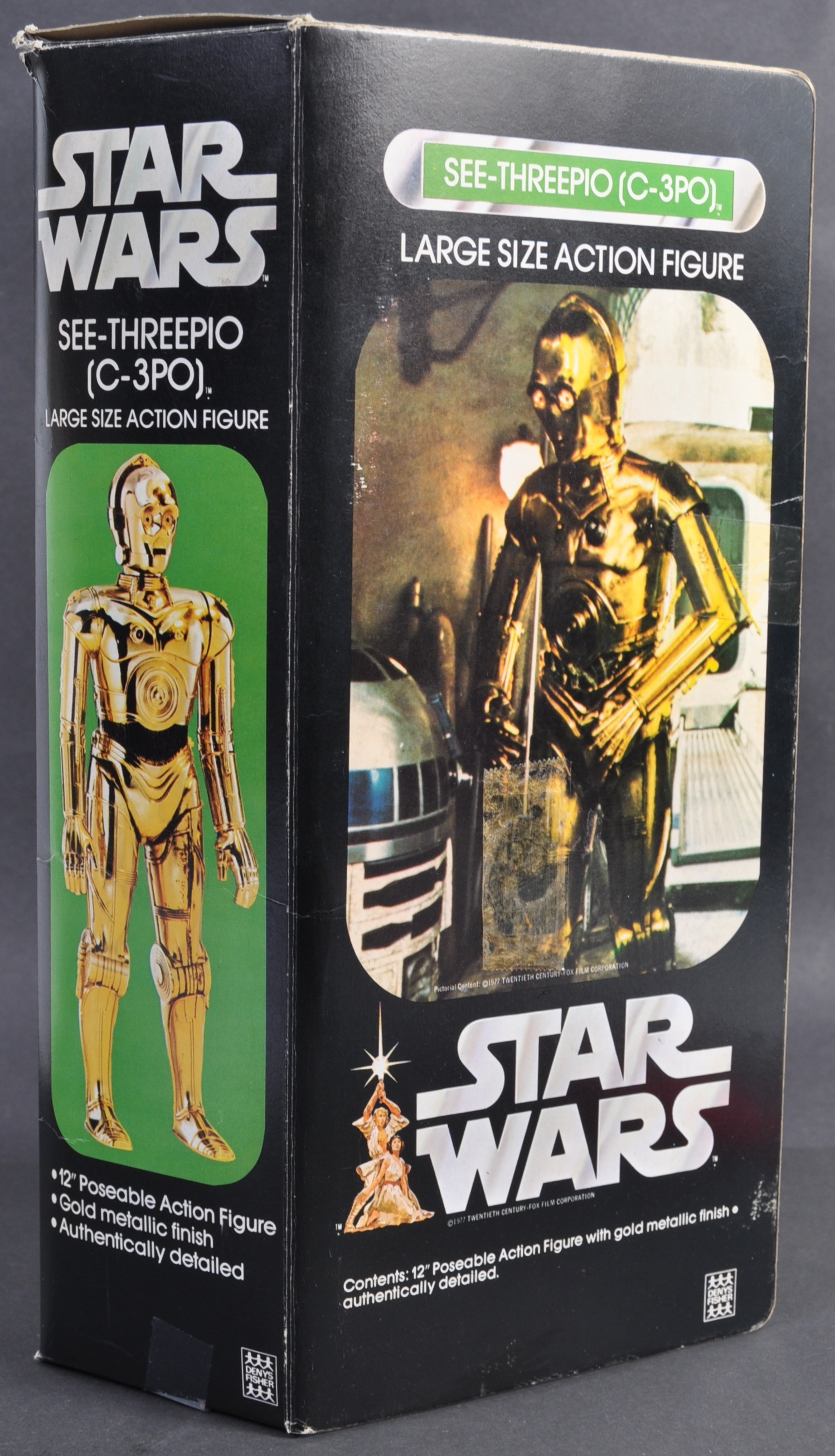 """STAR WARS - RARE DENYS FISHER 12"""" C3PO BOXED ACTION FIGURE - Image 2 of 6"""