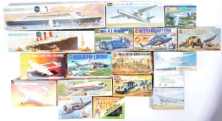 COLLECTION OF X18 ASSORTED BOXED PLASTIC MODEL KITS