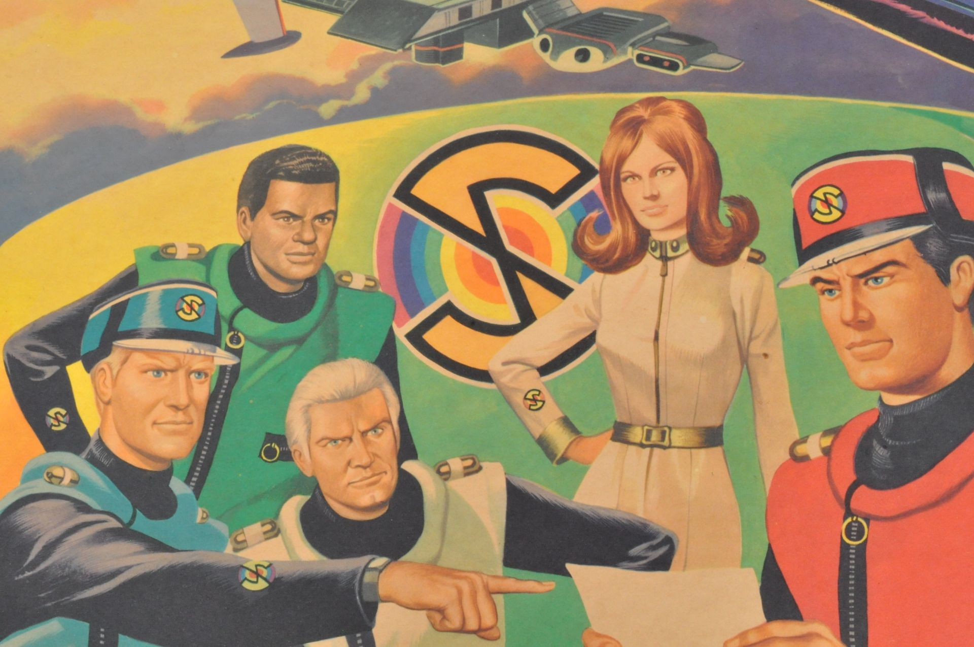 RARE CAPTAIN SCARLET ANGLO CONFECTIONERY SHOP DISPLAY POSTER BOARD - Image 5 of 9
